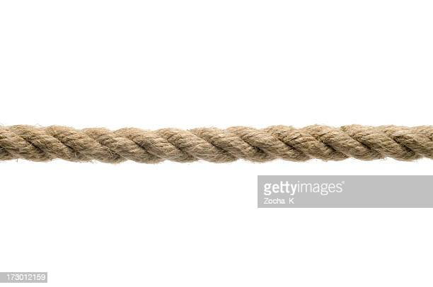 tan rope against a white background - rope stock pictures, royalty-free photos & images