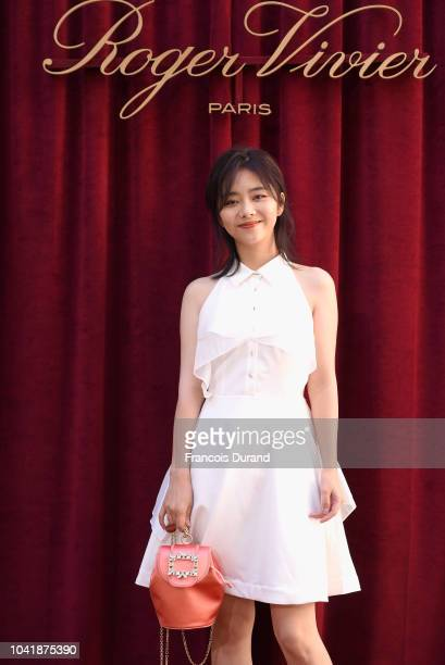 Tan Songyun attends the Roger Vivier Presentation Spring/Summer 2019 during Paris Fashion Week on September 27 2018 in Paris France