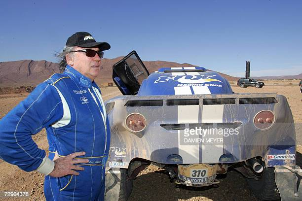 France's JeanLouis Schlesser in a Schlesser recovers after the fifth stage of the 29th Dakar between Ouarzazate and Tan Tan 10 January 2007 Spaniard...