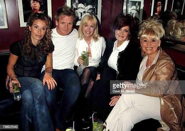 Tana and Gordon Ramsay Sally Green Sharon Osbourne and Barbara Windsor attend private party at Ronnie Scott's hosted by Gary Farrow on March 15 2007...