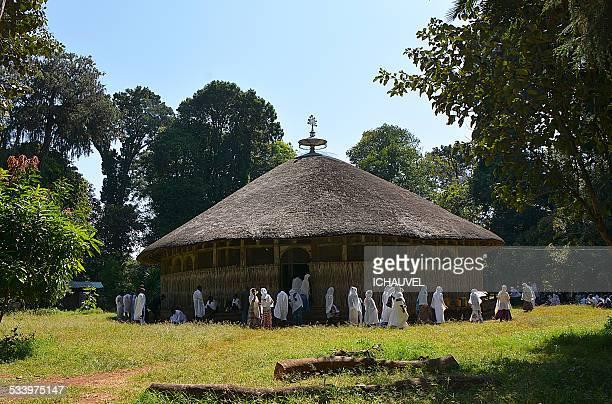 tana lake church ethiopia - ethiopian orthodox church stock pictures, royalty-free photos & images
