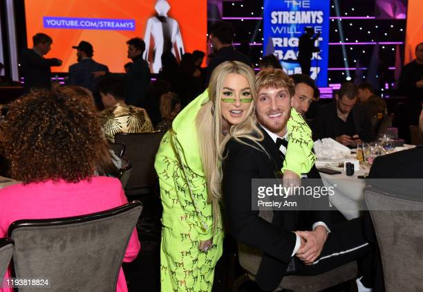 Tana Mongeau and Logan Paul attend The 9th Annual Streamy Awards on December 13 2019 in Los Angeles California