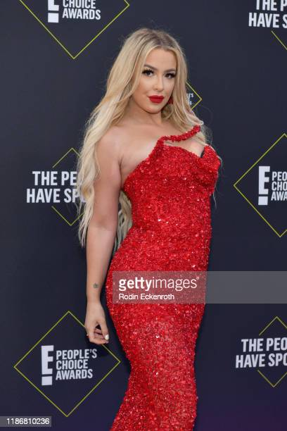Tana Mongeau attends the 2019 E People's Choice Awards at Barker Hangar on November 10 2019 in Santa Monica California