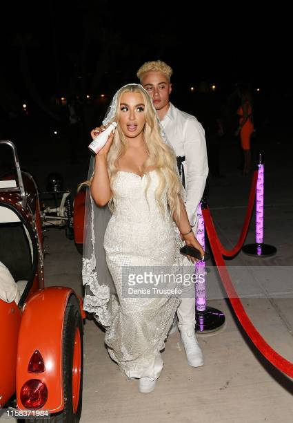 Tana Mongeau during her wedding at Graffiti House on July 28 2019 in Las Vegas Nevada
