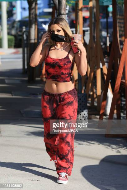 Tana Mongeau is seen at Urth Cafe on February 11, 2021 in Los Angeles, California.