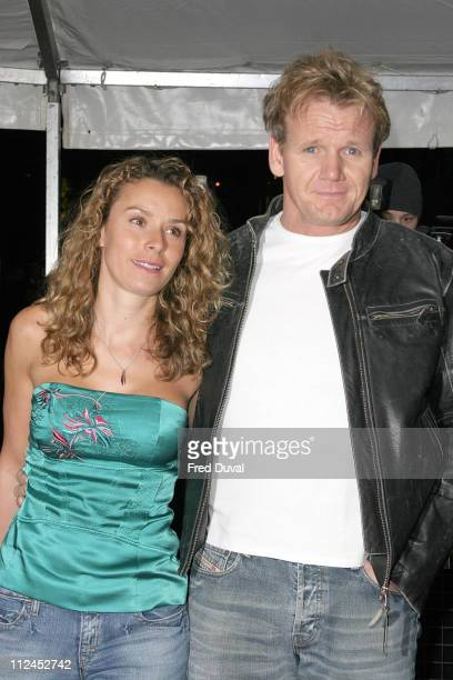 Tana Ramsay and Gordon Ramsay during An Audience With Al Murray The Pub Landlord at The London Television Centre in London Great Britain