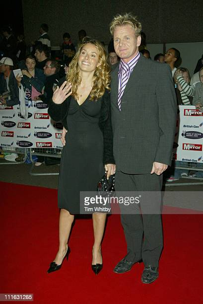 Tana Ramsay and Gordon Ramsay during The Daily Mirror's Pride of Britain Awards 2005 at ITV Centre in London Great Britain
