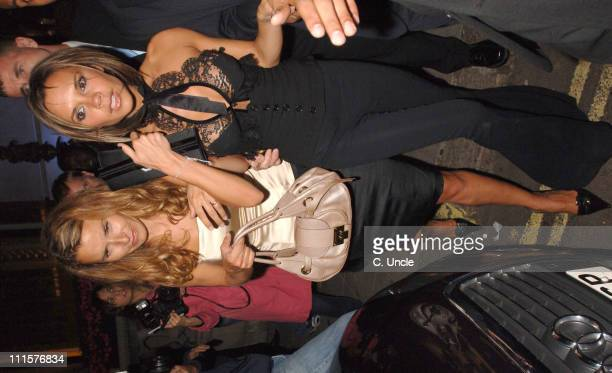 Tana Ramsay and Victoria Beckham during Victoria Beckham Sighting at Fifty August 22 2006 at Fift Casino St James Street in London Great Britain