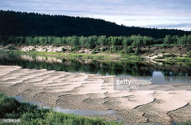 Tana river bed near Karasjok Finnmark Norway