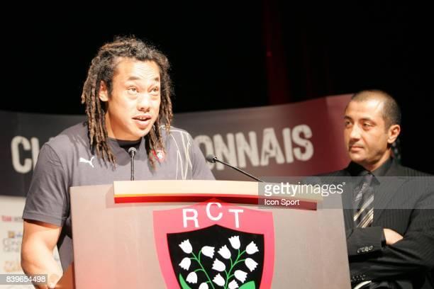 Tana UMAGA et Mourad BOUDJELLAL - - Conference de presse ,