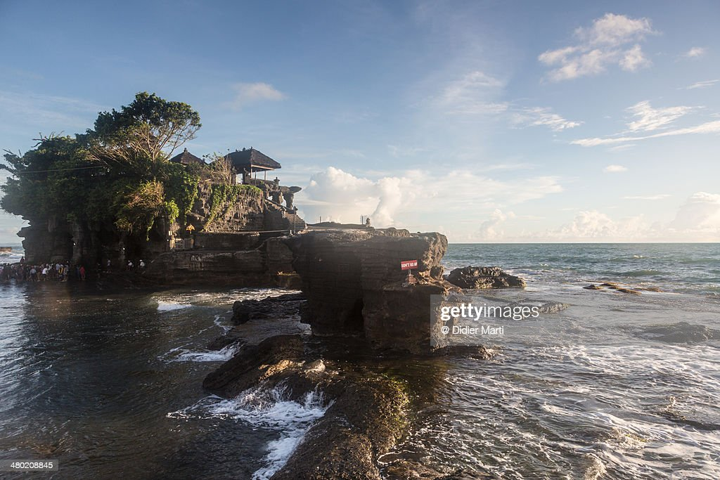 Tanah lot temple in Bali : Stock Photo