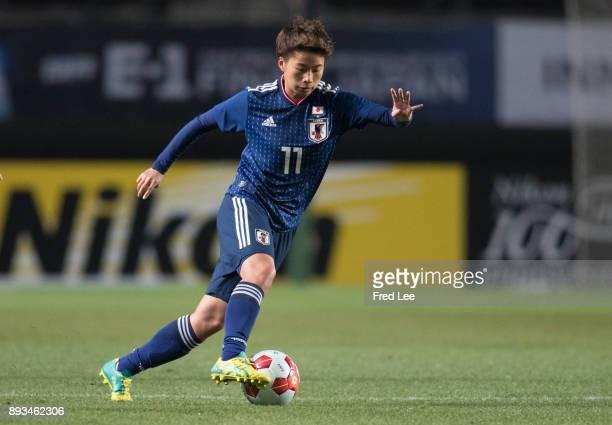 Tanaka Mina of Japan in action during the EAFF E1 Women's Football Championship between Japan and North Korea at Fukuda Denshi Arena on December 15...