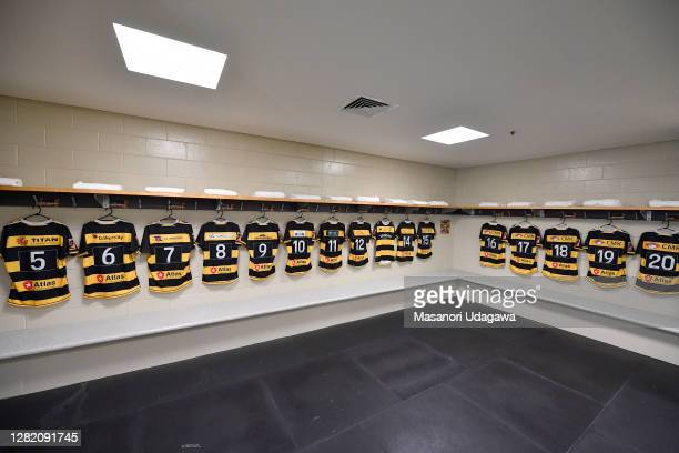 Tanaki changing room before round 7 Mitre 10 Cup match between Waikato and Taranaki at FMG Stadium on October 25 2020 in Hamilton New Zealand