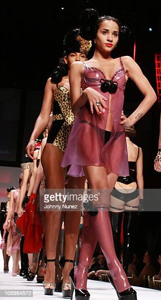 Tanaya Henry walks the runway at Lingerie New York 2010 at Cipriani 42nd Street on October 21, 2010 in New York City.
