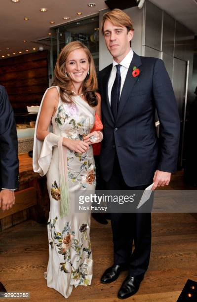 Tanaz Dizadji and Ben Elliott attend a Japanese evening in aid of Pratham on November 8 2009 in London England