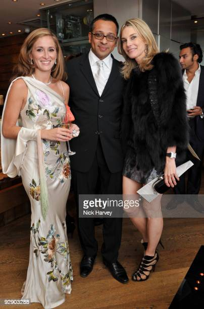 Tanaz Dizadji and Kim Hersov attend a Japanese evening in aid of Pratham on November 8 2009 in London England
