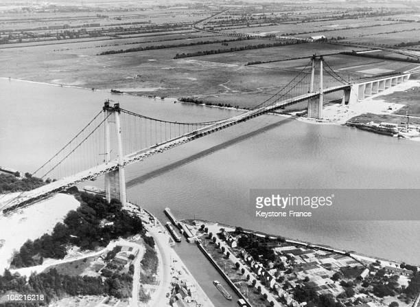 Tancarville Bridge In 1959