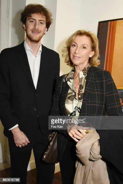 Tancrede Hertzog from Galerie TL and his mother Anna Hertzog attend the Tribute to Leonardo Cremonini Exibition Preview at Galerie T Lon November 29...