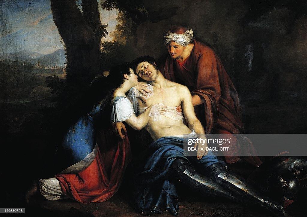 Tancredi wounded and found by Erminia and Vafrino... : Foto di attualità