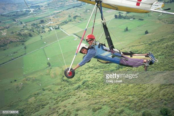 Tandem Hang Glider Pilot with Student