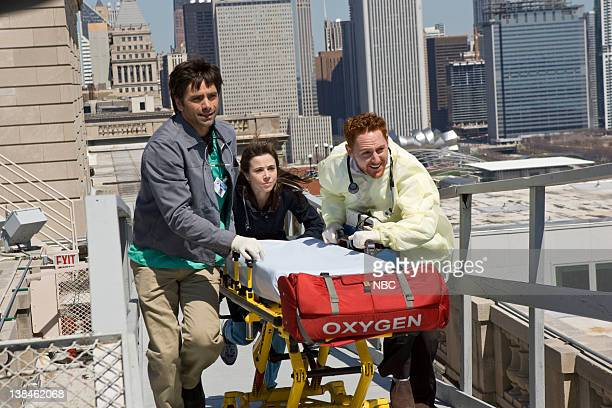 ER 'Tandem Repeats' Episode 1418 Airdate Pictured John Stamos as Tony Gates Linda Cardellini as Samantha Taggart Scott Grimes as Dr Archie Morris