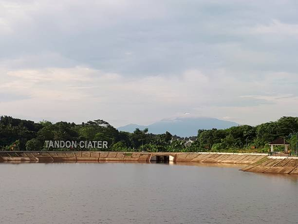 Tandon Ciater Reservoir with Mountain Salak in the Background
