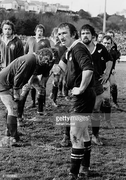 Tane Norton the New Zealand Captain pictured during the Third Test Match between New Zealand and the British Lions on July 9 1977 in Christchurch New...
