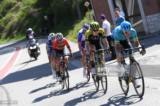 Tanel Kangert of Estonia and Astana Pro Team / Jack Haig of Australia and Team Mitchelton-Scott / Vincenzo Nibali of Italy and Team Bahrain-Merida /...