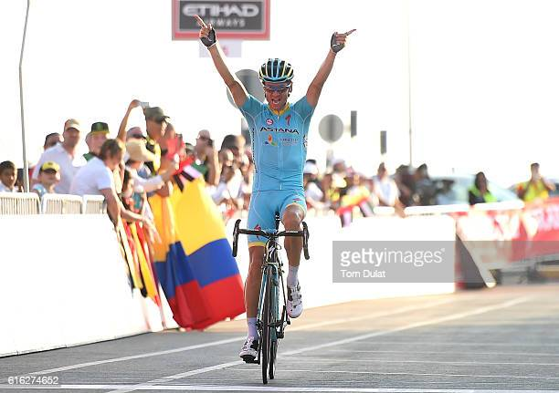 Tanel Kangert of Estonia and Team Astana wins during Strata Stage Three of the 2016 Abu Dhabi Tour on October 22, 2016 in Al Ain, United Arab...