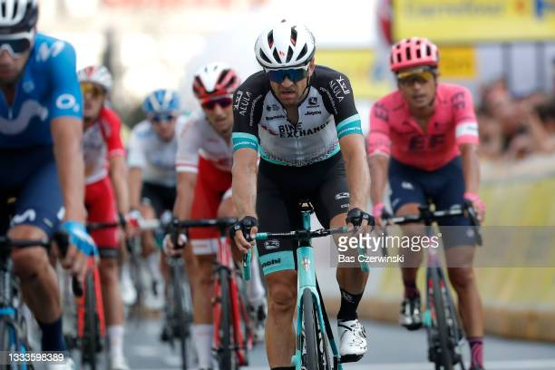 Tanel Kangert of Estonia and Team BikeExchange at finish line during the 78th Tour de Pologne 2021, Stage 3 a 226km stage from Sanok to Rzeszów /...