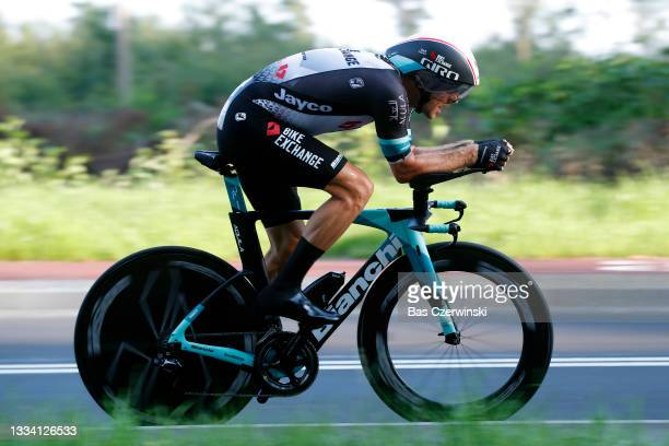 Tanel Kangert of Estonia and Team BikeExchange competes during the 78th Tour de Pologne 2021, Stage 6 a 19km Individual Time Trial stage from...