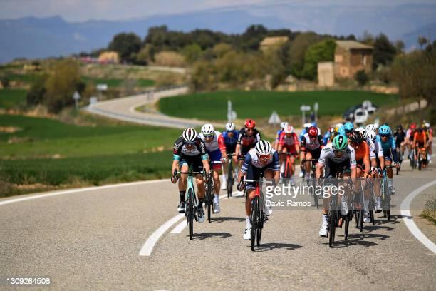 Tanel Kangert of Estonia and Team BikeExchange, Gianluca Brambilla of Italy and Team Trek - Segafredo, Ben Zwiehoff of Germany and Team BORA -...