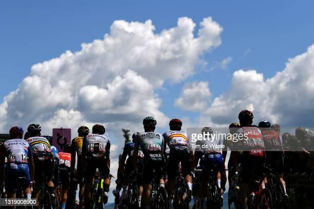 Tanel Kangert of Estonia and Team BikeExchange, Giovanni Aleotti of Italy and Team Bora - Hansgrohe, Luis Leon Sanchez Gil of Spain and Team Astana –...
