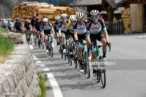 Tanel Kangert of Estonia and Team BikeExchange & Kevin Colleoni of Italy and Team BikeExchange during the 44th Tour of the Alps 2021, Stage 4 a 168,6...
