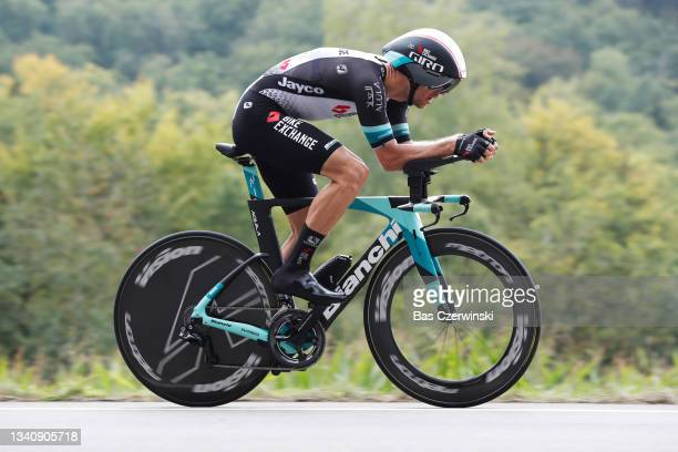 Tanel Kangert of Estonia and Team BikeExchange sprints during the 81st Skoda-Tour De Luxembourg 2021, Stage 4 a 25,4km Individual Time Trial stage...