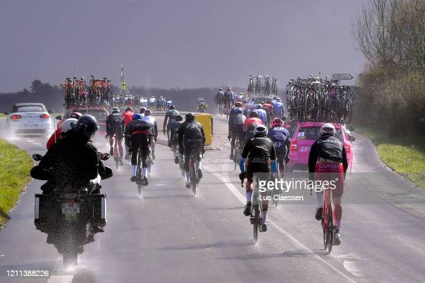 Tanel Kangert of Estonia and Team Ef Education First / Aurélien ParetPeintre of France and Team AG2R La Mondiale / Piet Allegaert of Belgium and Team...