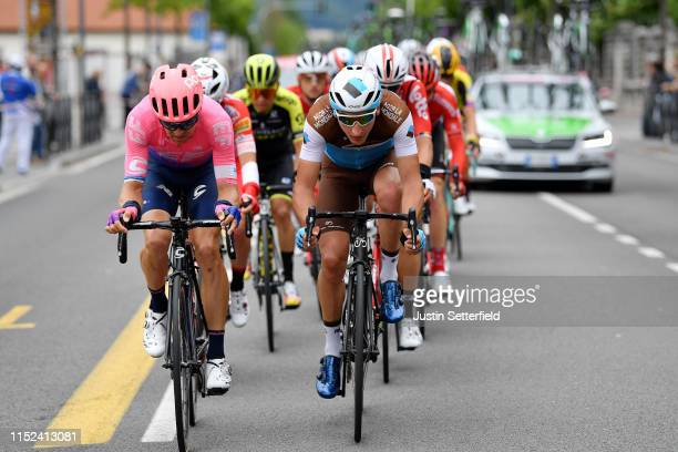 Tanel Kangert of Estonia and Team EF Education First / Nans Peters of France and Team AG2R La Mondiale / during the 102nd Giro d'Italia 2019, Stage...