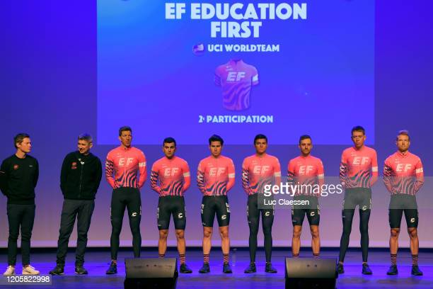 Tanel Kangert of Estonia and Team EF Pro Cycling / Hugh Carthy of The United Kingdom and Team EF Pro Cycling / Magnus Cort of Denmark and Team EF Pro...