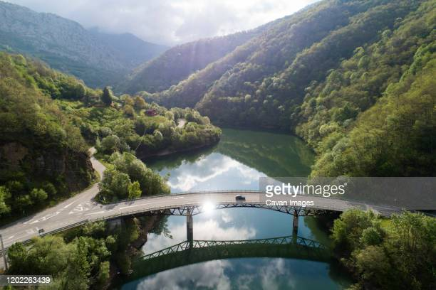 tanes reservoir from aerial view - drainage_basin stock pictures, royalty-free photos & images