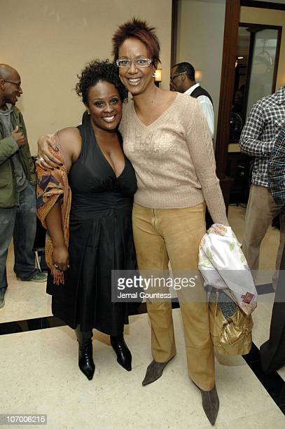 """Tanesha Barnes and Harriet Cole during Brenda Braxton, Star of Broadway's """"Chicago"""" and Fitness Expert Anthony Van Putten Open """"BBraxton"""" - The First..."""
