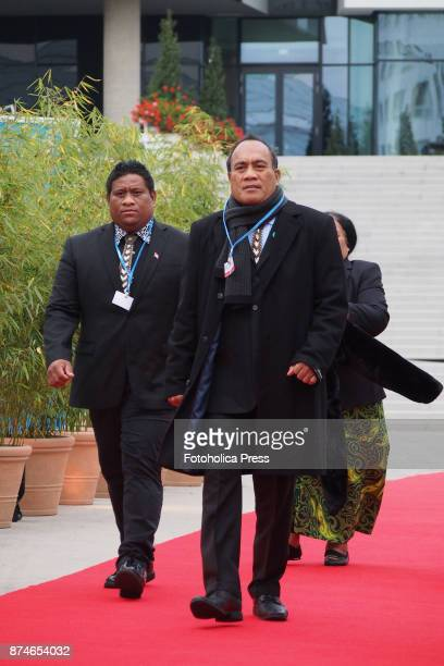 Taneti Mamau President of Kiribati arriving to the United Nations Framework Convention on Climate Change UNFCCC COP23