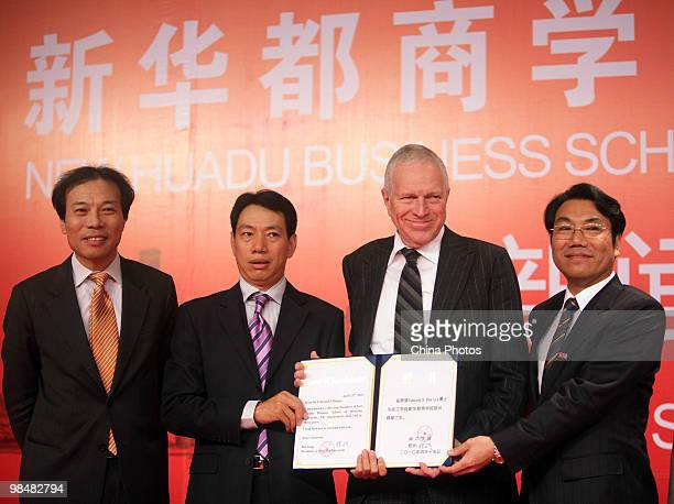 Tang Jun , President and CEO of New Huadu Industrial Group, Executive Chairman of New Huadu Foundation, Chen Fashu , Chairman of New Huadu Industrial...