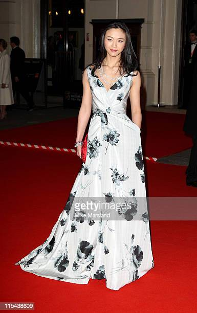 Tang Wei arrives at the Orange British Academy Film Awards 2008 held at the Royal Opera House on February 10 2008 in London England