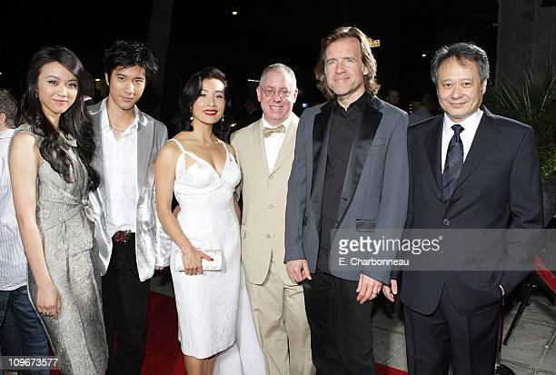 Tang Wei Wang Leehom Joan Chen writer/executive producer James Schamus producer Bill Pohlad and director Ang Lee at the Los Angeles Premiere of Lust...