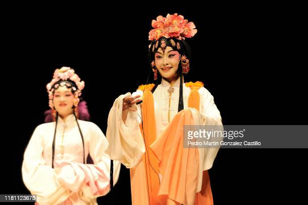 """Tang Xianzu Company during 'The peonies pavilion"""" performance part of the 47th International Cervantino Festival at Auditorio del Estado on October..."""