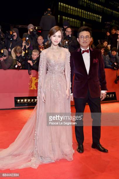 Tang Yan aka Tiffany Tang and Richard Shen attend the 'Django' premiere during the 67th Berlinale International Film Festival Berlin at Berlinale...