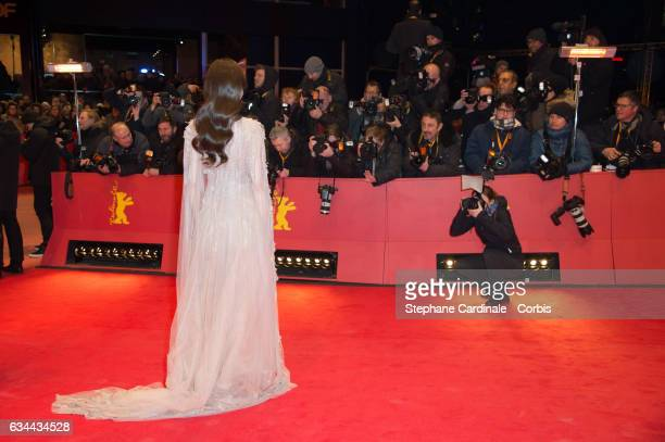 Tang Yan aka Tiffany Tang attends the 'Django' premiere during the 67th Berlinale International Film Festival Berlin at Berlinale Palace on February...