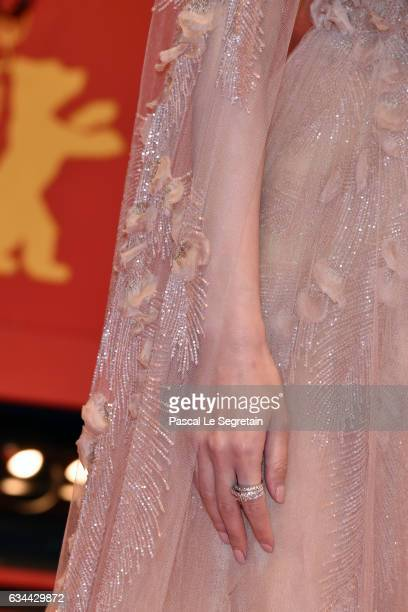 Tang Yan aka Tiffany Tang fashion detail attends the 'Django' premiere during the 67th Berlinale International Film Festival Berlin at Berlinale...