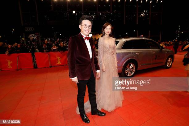 Tang Yan and Richard Shen attend the 'Django' premiere during the 67th Berlinale International Film Festival Berlin at Berlinale Palace on February 9...