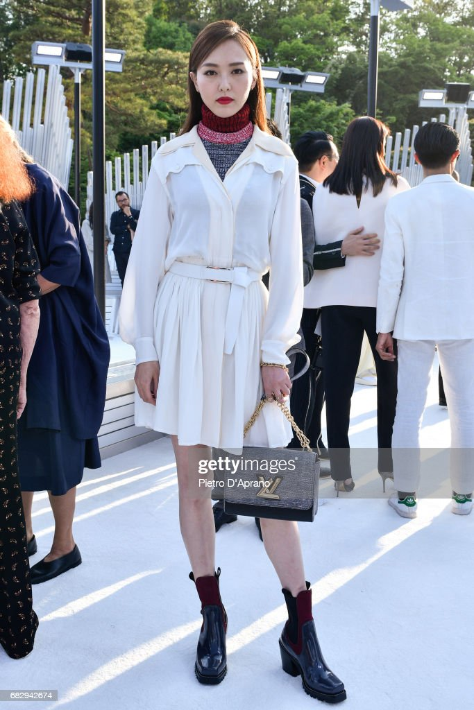 Tang Yan attends the Louis Vuitton Resort 2018 show at the Miho Museum on May 14, 2017 in Koka, Japan.